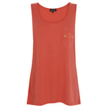 Buy Warehouse Button Pocket Vest, Orange Online at johnlewis.com