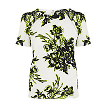 Buy Warehouse Giant Floral Crepe Top, Multi Online at johnlewis.com