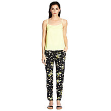Buy Warehouse Floral Printed Trousers, Multi Online at johnlewis.com