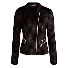 Buy Gerry Weber Knitted Jacquard Jacket, Chocolate Online at johnlewis.com