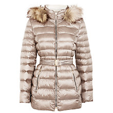Buy Gerry Weber Faux Fur Trim Hood Jacket, Stone Online at johnlewis.com