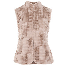 Buy Gerry Weber Faux Fur Gilet, Truffle Online at johnlewis.com