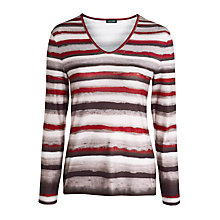 Buy Gerry Weber Graduated Stripe Jersey Top, Multi Online at johnlewis.com