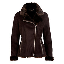 Buy Gerry Weber Faux Fur Shearling Jacket, Chocolate Mink Online at johnlewis.com