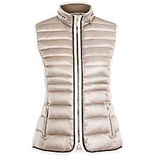 Buy Gerry Weber Trim Down Gilet, Stone Online at johnlewis.com