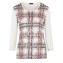 Buy Gerry Weber Sequin Check Jersey Top, Multi Online at johnlewis.com