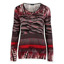 Buy Gerry Weber Mix Tartan Jersey Top, Multi Online at johnlewis.com