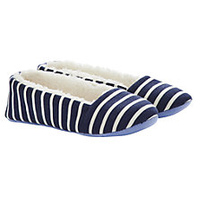 Buy Joules Dreama Stripe Slippers, Navy Online at johnlewis.com
