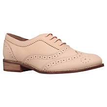 Buy KG by Kurt Geiger Lily Flat Leather Brogue Shoes Online at johnlewis.com
