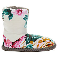 Buy Joules Josie Floral Boot Slippers, Multi Online at johnlewis.com
