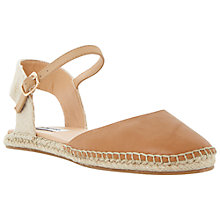 Buy Dune Jessee Espadrille Sandals, Tan Online at johnlewis.com