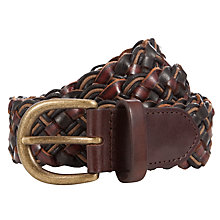 Buy Scotch & Soda Woven Leather Belt, Brown Online at johnlewis.com