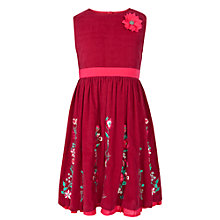 Buy John Lewis Girl Corduroy Embellished Dress, Raspberry Online at johnlewis.com