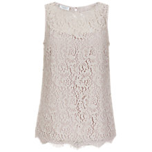 Buy Hobbs Invitation Lace Top, Pink Mist Online at johnlewis.com