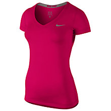 Buy Nike Pro Women's Short Sleeve V-Neck T-Shirt Online at johnlewis.com