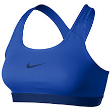 Buy Nike Pro Victory Compression Sports Bra, Blue Online at johnlewis.com