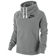 Buy Nike Women's Rally Funnel Pullover Hoodie, Grey Online at johnlewis.com