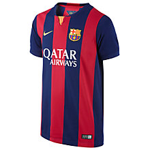 Buy Nike Barcelona Junior Replica Home Shirt 2014-2015, Scarlet/Blue Online at johnlewis.com