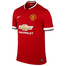 Buy Nike Manchester United Men's Replica Home Shirt Online at johnlewis.com
