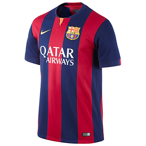 Buy Nike Barcelona Replica Home Shirt 2014-2015, Scarlet/Blue Online at johnlewis.com