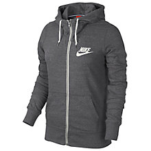 Buy Nike Gym Vintage Full Zip Hoodie, Dark Grey/Sail Online at johnlewis.com