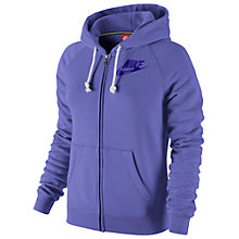 Buy Nike Rally Full Zip Hoodie, Purple Haze Online at johnlewis.com