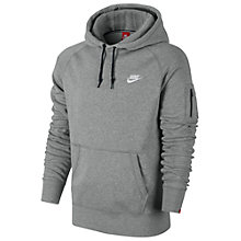 Buy Nike AW77 Fleece Hoodie, Dark Grey Heather Online at johnlewis.com