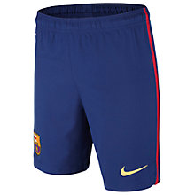 Buy Nike Barcelona Junior Replica Home Shorts 2014-2015, Blue/Scarlet Online at johnlewis.com
