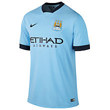 Buy Nike Manchester City FC Men's Replica Home Shirt Online at johnlewis.com