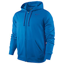 Buy Nike KO Full Zip Training Hoodie, Photo Blue Online at johnlewis.com
