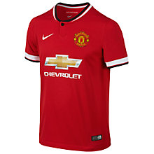 Buy Nike Junior Manchester United Replica Home Shirt 2014/15, Red Online at johnlewis.com