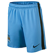 Buy Nike Junior Manchester City Replica Home Shorts 2014/2015, Blue Online at johnlewis.com