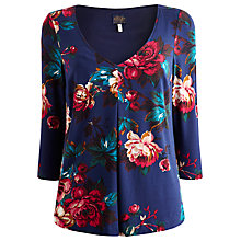 Buy Joules Peony Jersey Top, Navy Floral Online at johnlewis.com