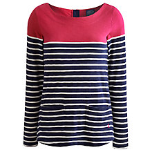 Buy Joules Anwen Jersey Top, Ruby Stripe Online at johnlewis.com