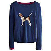 Buy Joules Marsha Dog Jumper, French Navy Online at johnlewis.com