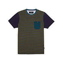 Buy Ted Baker Karnak Striped T-Shirt, Navy Online at johnlewis.com