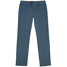 Buy Ted Baker Hollard Cotton Herringbone Trousers, Blue Online at johnlewis.com