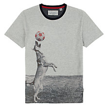 Buy Ted Baker Cupdog Graphic T-Shirt, Grey Marl Online at johnlewis.com