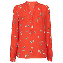 Buy Oasis Shell Print Top, Mid Orange Online at johnlewis.com