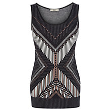 Buy Oasis Tribal Vest Top, Black Online at johnlewis.com