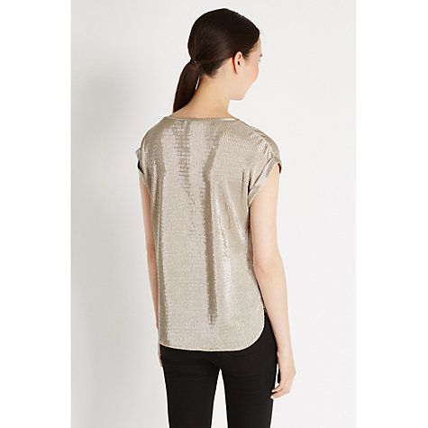 Buy Oasis Crinkle Tee, Silver Online at johnlewis.com