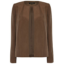 Buy Jaeger Silk Hobotai Jacket, Khaki Online at johnlewis.com