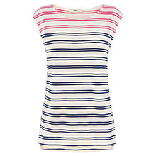 Buy Oasis Twin Stripe T-Shirt, Multi Online at johnlewis.com