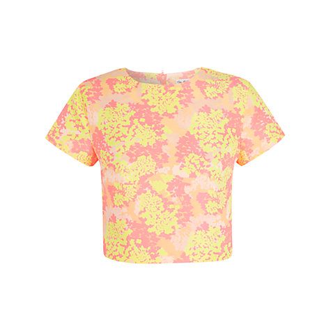 Buy Miss Selfridge Floral Crop Top, Multi Online at johnlewis.com