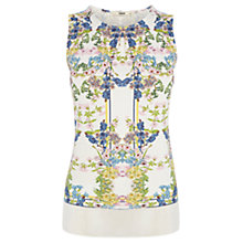 Buy Oasis Floral and Stripe Shell Top, Multi Online at johnlewis.com