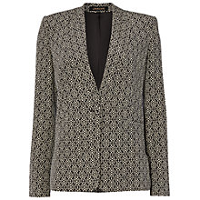 Buy Jaeger Ditsy Print Silk Jacket, Black / White Online at johnlewis.com