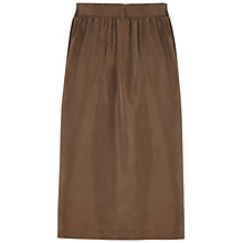 Buy Jaeger Silk Hobotai Skirt, Khaki Online at johnlewis.com
