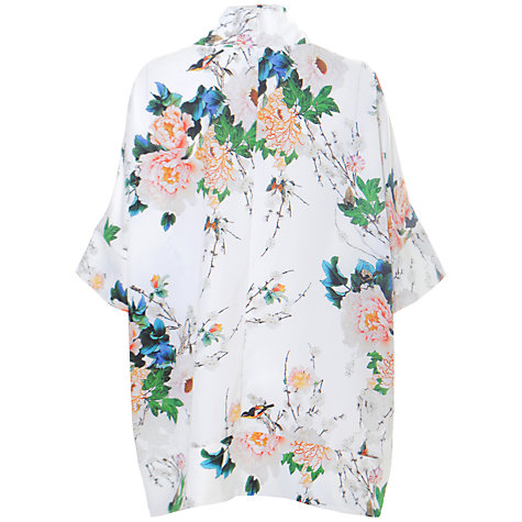 Buy True Decadence Floral Printed Kimono, White Online at johnlewis.com