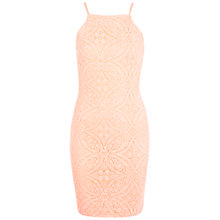 Buy Miss Selfridge Tile Burnout 90s Mini Dress, Coral Online at johnlewis.com
