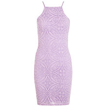 Buy Miss Selfridge Tile Burnout 90s Mini Dress, Lilac Online at johnlewis.com